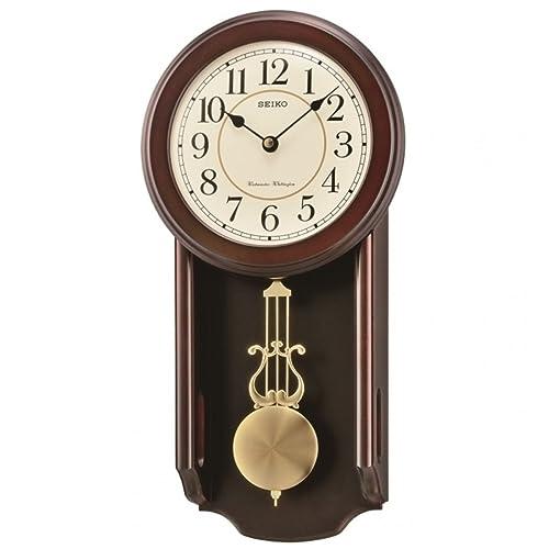 Oak Finish Pendulum Wall Clock