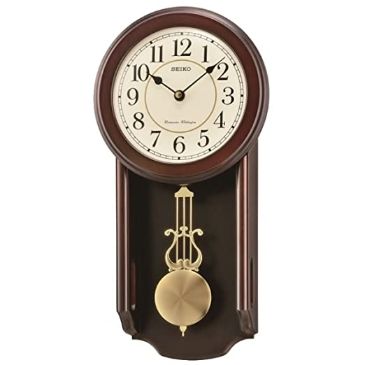 pendulum rhythm picture wall wooden of brown clock takhfeed watches