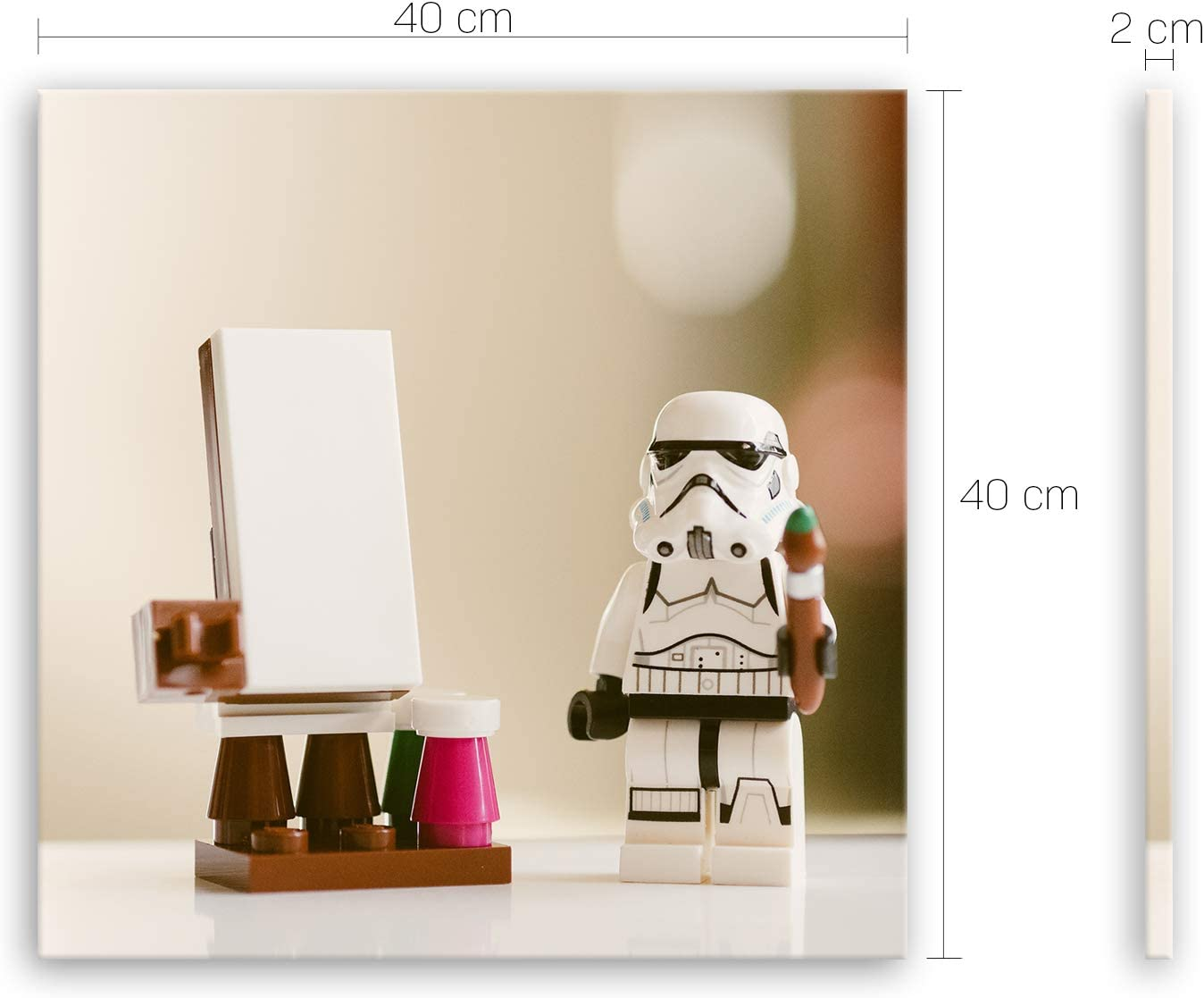 GE crea® alta calidad Lienzo – Stormtrooper V Creative – 3057, 40 x 40 cm: Amazon.es: Bricolaje y herramientas