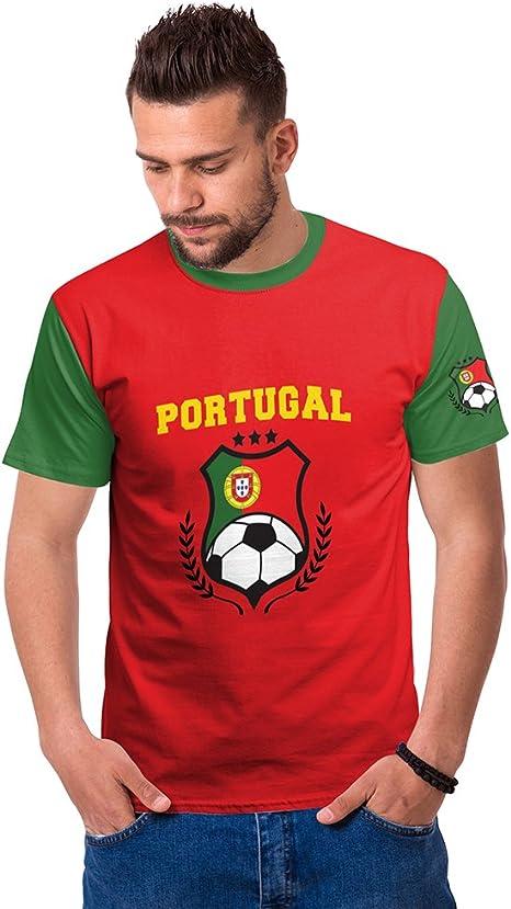 Jersey Fútbol Camiseta 2018 World Cup Football Fan España Shirt FIFA Russia Copa Mundial 3D Impresión Deportiva Adulto Impresa T-Shirt Print Soccer Messi Cristiano Ronaldo para Hombre(Portugal,M): Amazon.es: Deportes y aire libre
