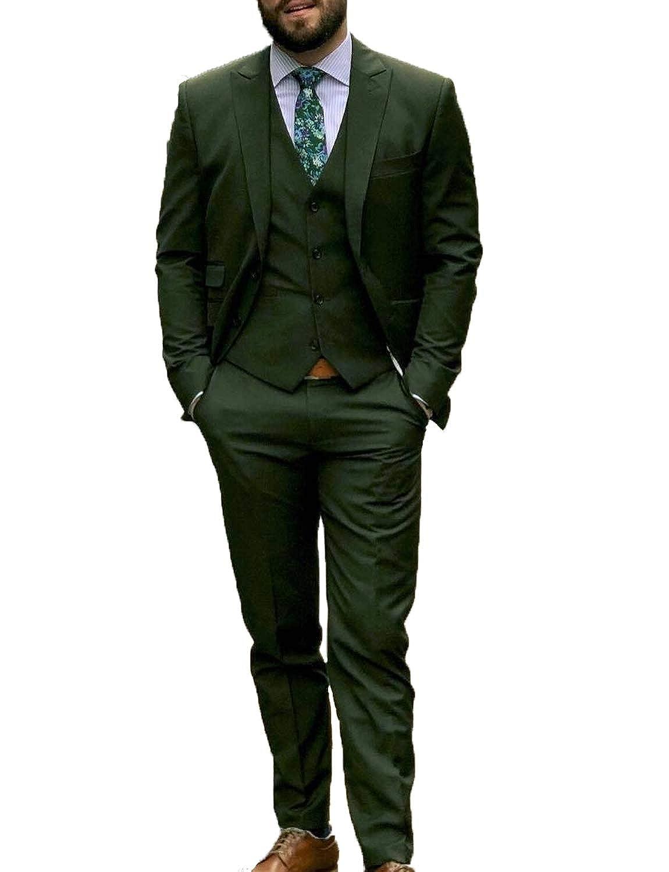 DGMJDFKDRFU Men Suits Slim Fit 3 Piece Designer for Wedding Dinner Jacket Tux for Stylish Party XZ051