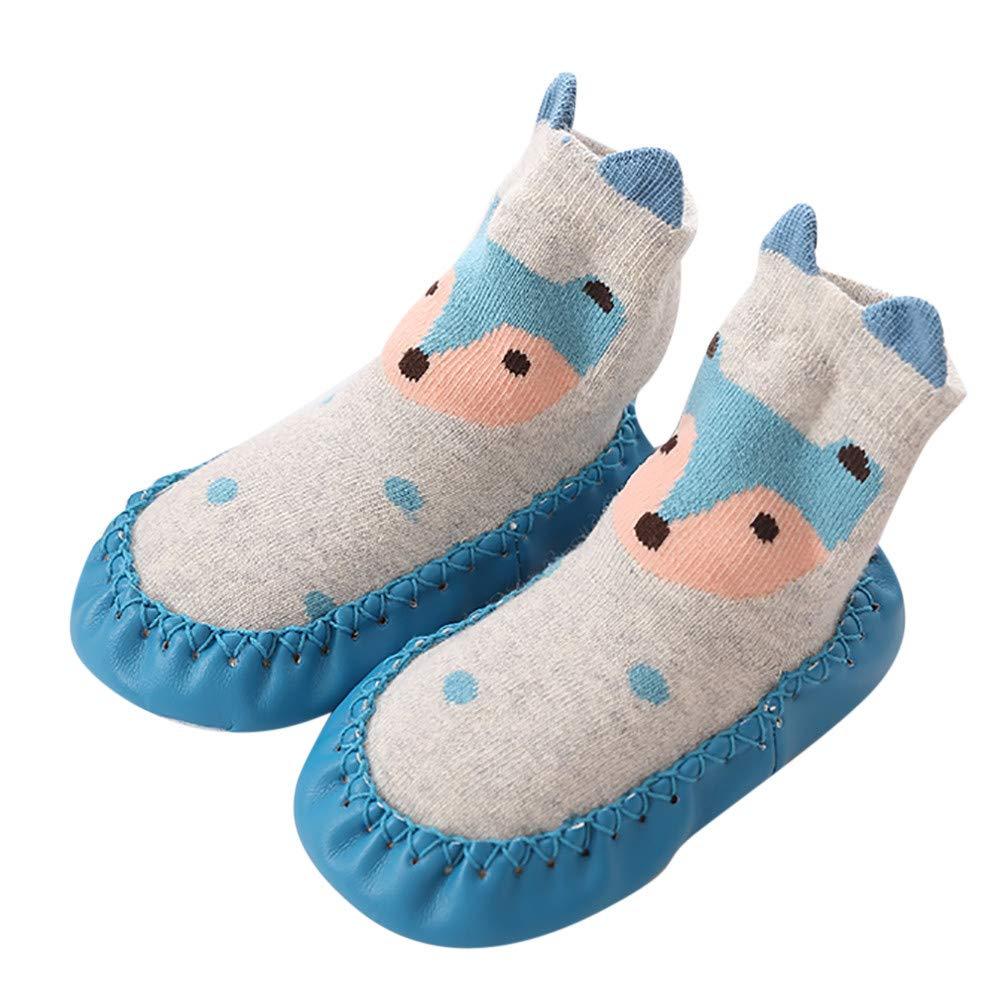 Huhu833 Baby Socken, Baby Junge Mädchen Boden Socken Baumwolle Kinder Stock socken Anti-Rutsch Baby Schritt Socken