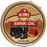 Kiwi Mink Oil Conditions & Waterproofs Leather 2.5/8 Oz.