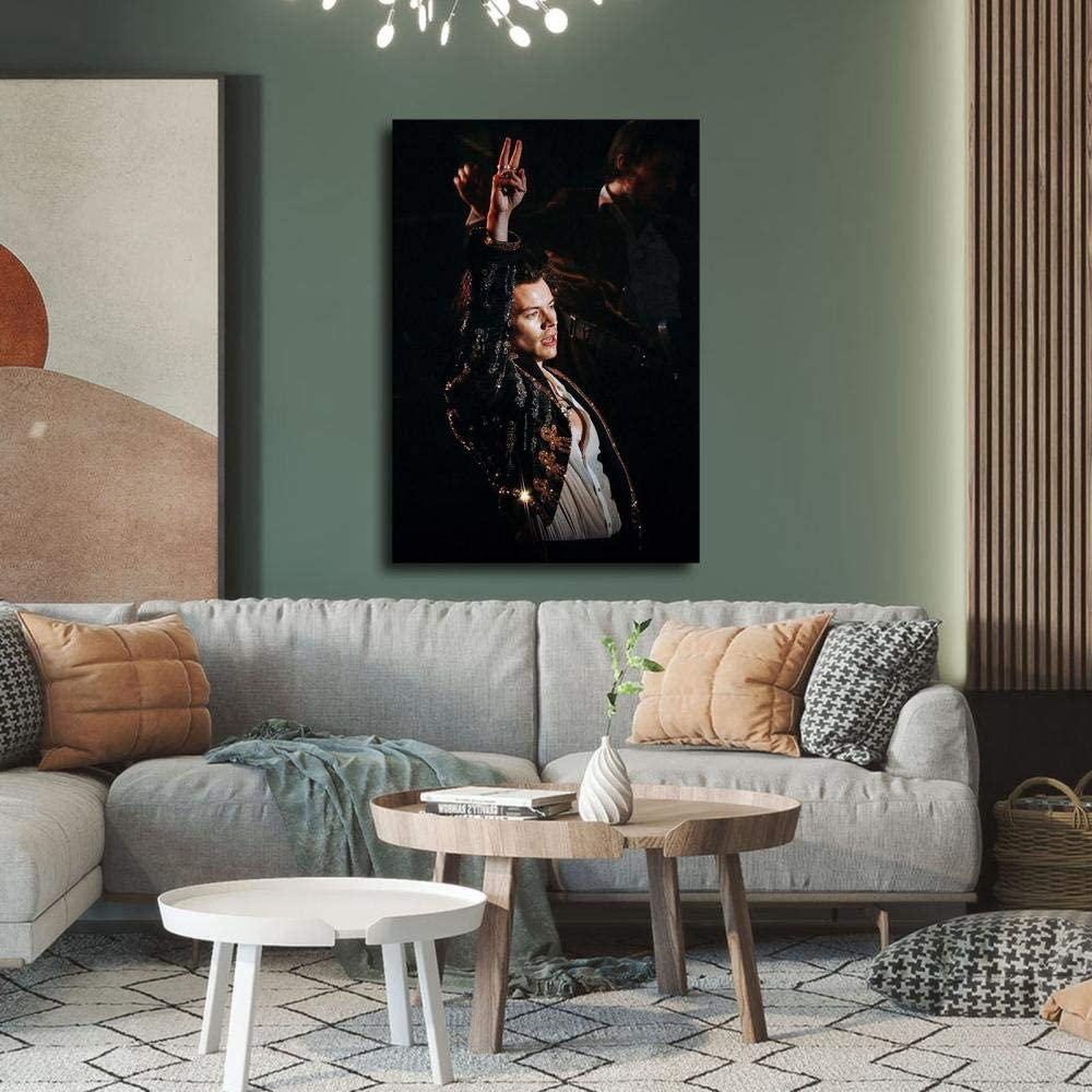 para decoraci/ón de dormitorio familiar XYDD P/óster de Singer de Harry Styles con portada de revista y arte de pared 30 x 45 cm impresi/ón moderna