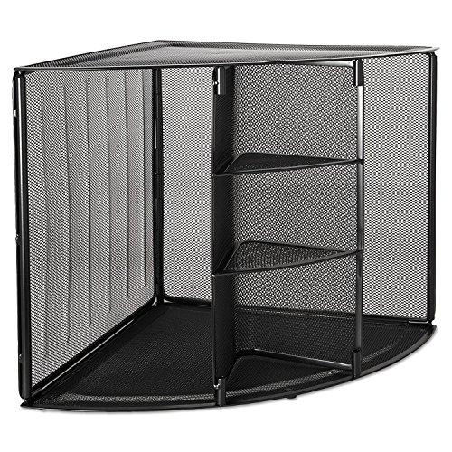 RolodexTM Mesh Corner Desktop Shelf SHELF,CORNER,MESH,BK (Pack of2)