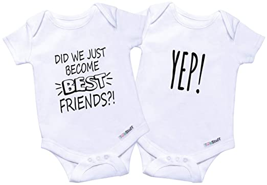 b3284bf3a Twin Onesies Baby Bodysuit Outfits - Newborn Girls & Boys Clothes, Twins 2  Pack