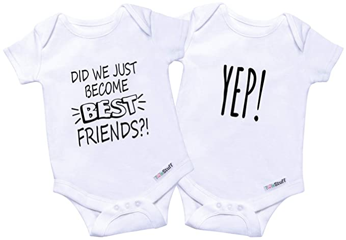 Amazoncom Twin Onesies Outfits Baby Girls Boys Perfect Newborn