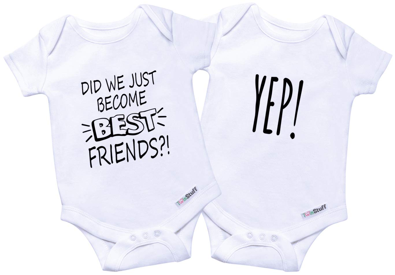 4f282a512 Twin Onesies Baby Bodysuit Outfits - Newborn Girls & Boys Clothes, Twins 2  Pack