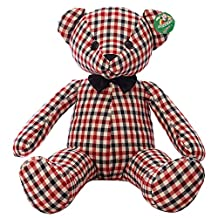 BESTLEE Soft Giant Bear Toy Handmade Plaid Cloth Toy 70CM (Red)