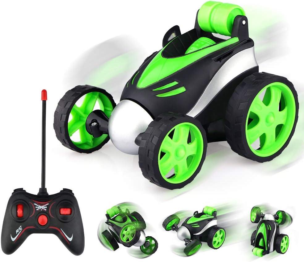 Voiture Telecommand/é Enfant 3 4 5 6 7 8 Ans Rotation /à 360 Degr/és RC Car Mini Voiture Jouet Cadeau Gar/çon Fille Jeux de Iardin Int/érieur Ext/érieur Baztoy Moto T/él/écommand/ée