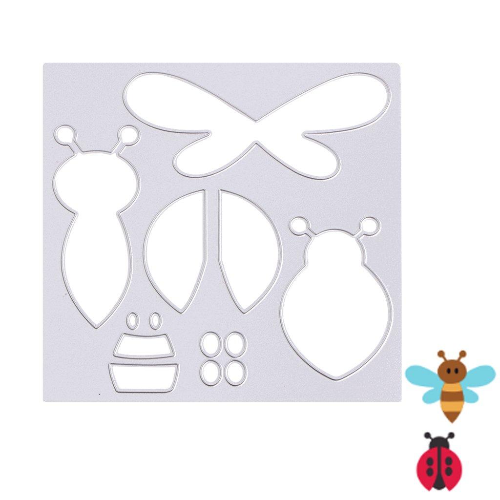 mimgo abeja mariquitas plantillas de corte para metal y plantilla ...