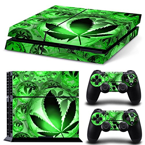 GoldenDeal PS4 Console and DualShock 4 Controller Skin Set - Weed Marijuana 420 - PlayStation 4 Vinyl (Skin Controller Weed Ps4)