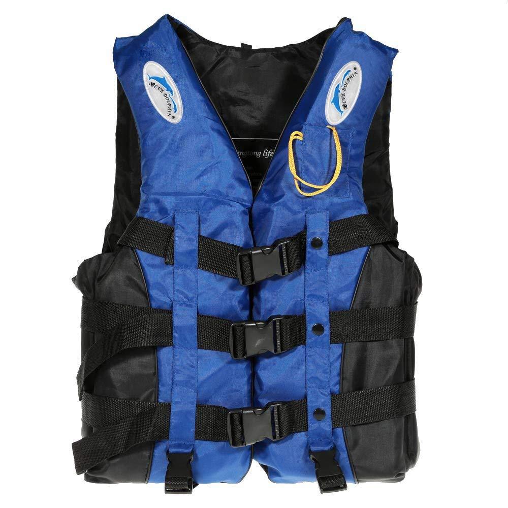Lixada ライフジャケットベスト 大人 子供 レディース メンズ ウォータースポーツ スイミング ボート ドリフティング カヤックホイッスル X-Large ブルー B07G98498D