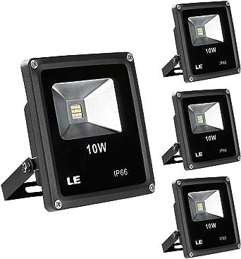 LE Focos LED Exteriores 10W=100W Halógeno, Blanco frío, Pack de 3 ...