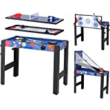 5 in 1 Folding Multi Game Table - Pool Table/Air Hockey/Basketball /Table Tennis/Bow & Arrow