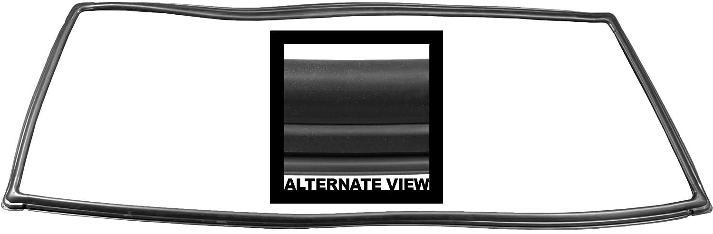 APDTY 133989 Rear Hatch Back Glass Rubber Weatherstrip Fits 1984-1996 Jeep Cherokee or Wagoneer Replaces Mopar 55007134, 1-55007134