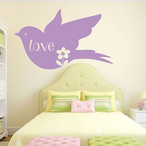 Amazon.com: Love Bird Wall Decal - Dove/Peace Themed Vinyl Bedroom ...