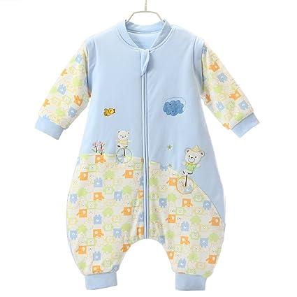 kuuboo algodón bebé saco de dormir unisex bebé algodón extraíble manga larga cremallera Up saco de