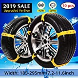 PrettyQueen SUV Car Snow Chains for Trucks Cars Snow Tire Chains for SUV Anti Slip Tire Chain Adjustable Snow Tire Cable Mergency Car...