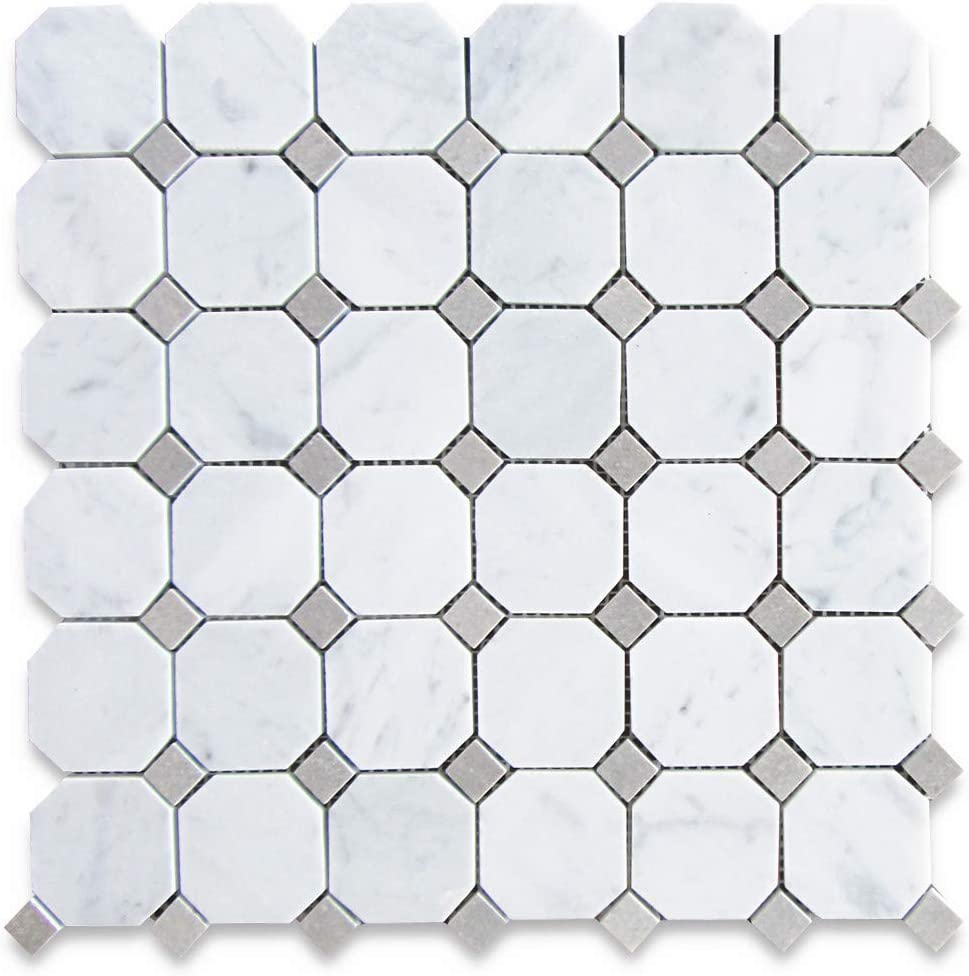 - Stone Center Online Carrara White Italian Carrera Marble Octagon