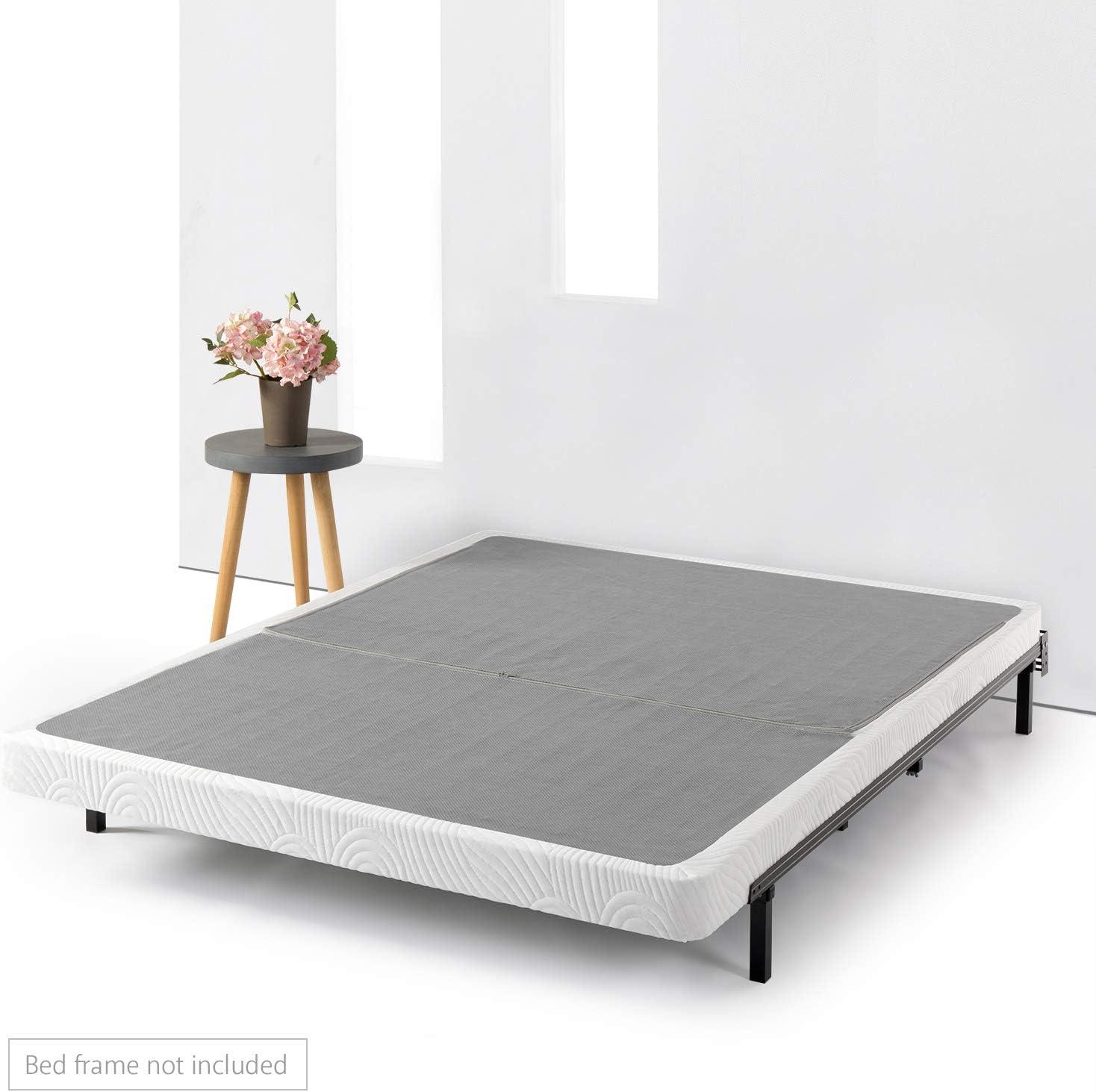 Best Price Mattress Queen Frame 14 Inch Metal Platform Beds w Wooden Slat Mattress Foundation No Box Spring Needed , Size, Black