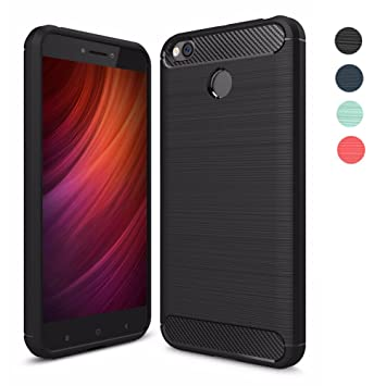 Funda Xiaomi Redmi 4X,Amytech Silicona Fundas para Redmi 4X Carcasa Xiaomi Redmi 4X Fibra de Carbono Funda Case