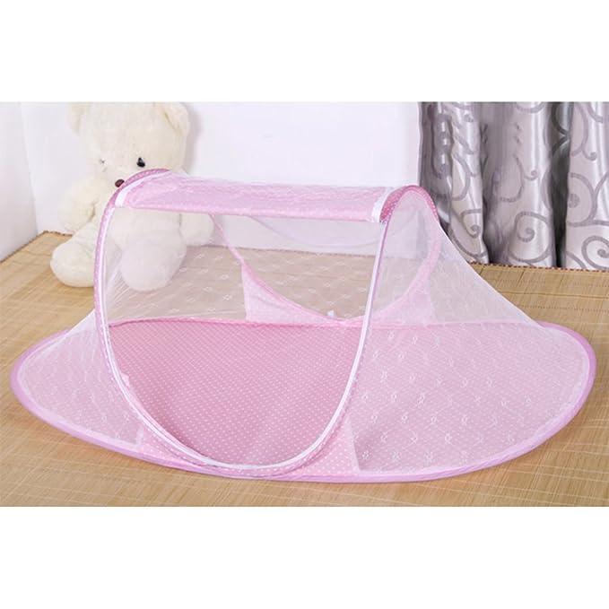Mosquitera para cunas Bebé Portable Ttravel cuna con Mosquitero Neto cama de bebé cama plegable para bebé rosa: Amazon.es: Bebé