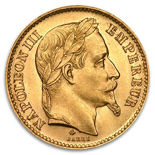FR French Franc Napoleon Gold Brilliant Uncirculated - Napoleon Gold Coin