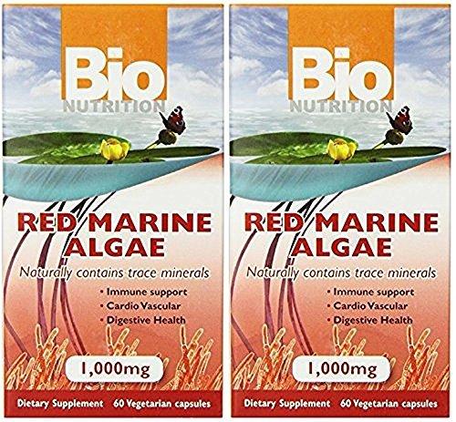 (Bio Nutrition Red Marine Algae Vegi-Caps, 60 Count, Pack of 2)