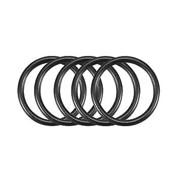 50Pcs Black 6mm x 1.2mm Nitrile Rubber O Ring NBR Oil Sealing Grommets