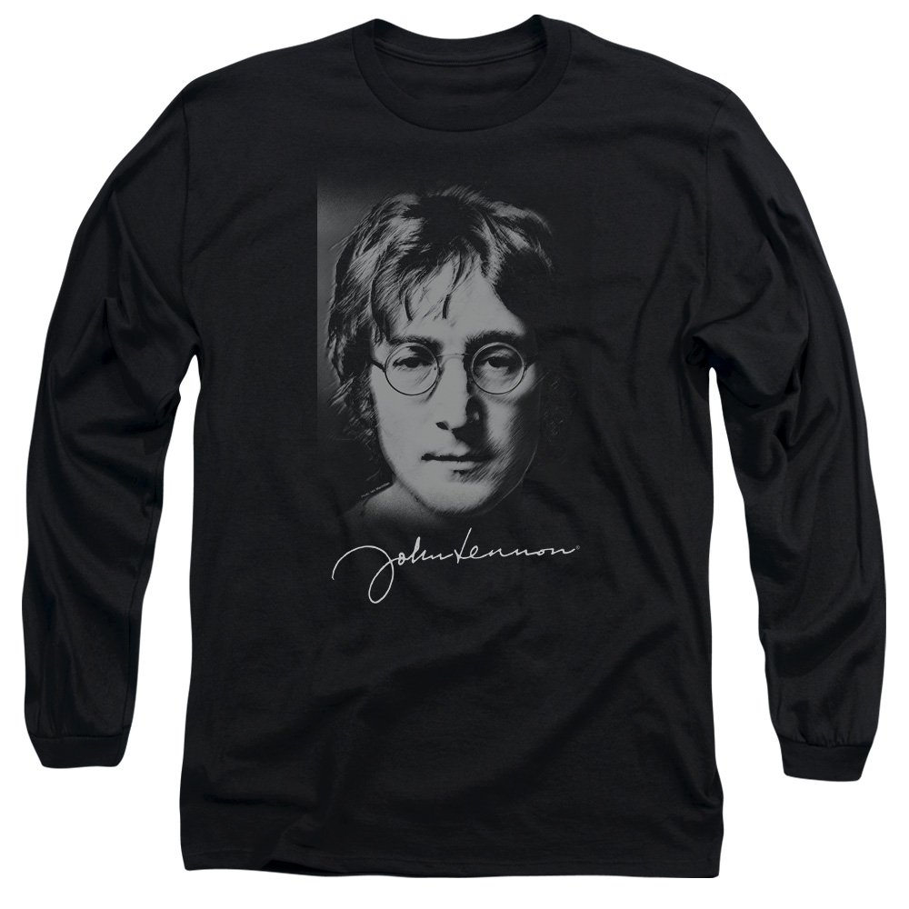 John Lennon Signature Sketch Longsleeve Adult Tshirt