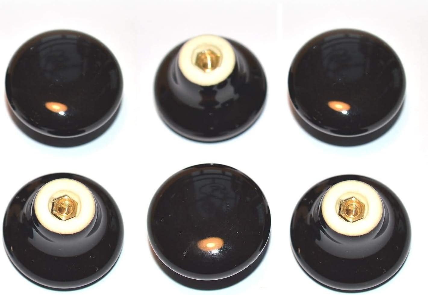 32MM Vintage Tirador para Caj/ón Armarios de Cocina,Cajones NATUCE 10PCS Blanco Cer/ámica Pomo de Armario Redondo Pomos y Tiradores de Muebles Pomos Tiradores de Muebles Pomos para Puertas