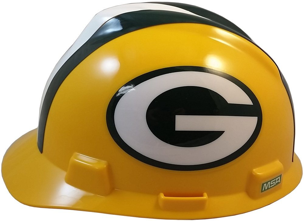 MSA NFL Ratchet Suspension Hardhats - Green Bay Packers Hard Hats by MSA (Image #2)