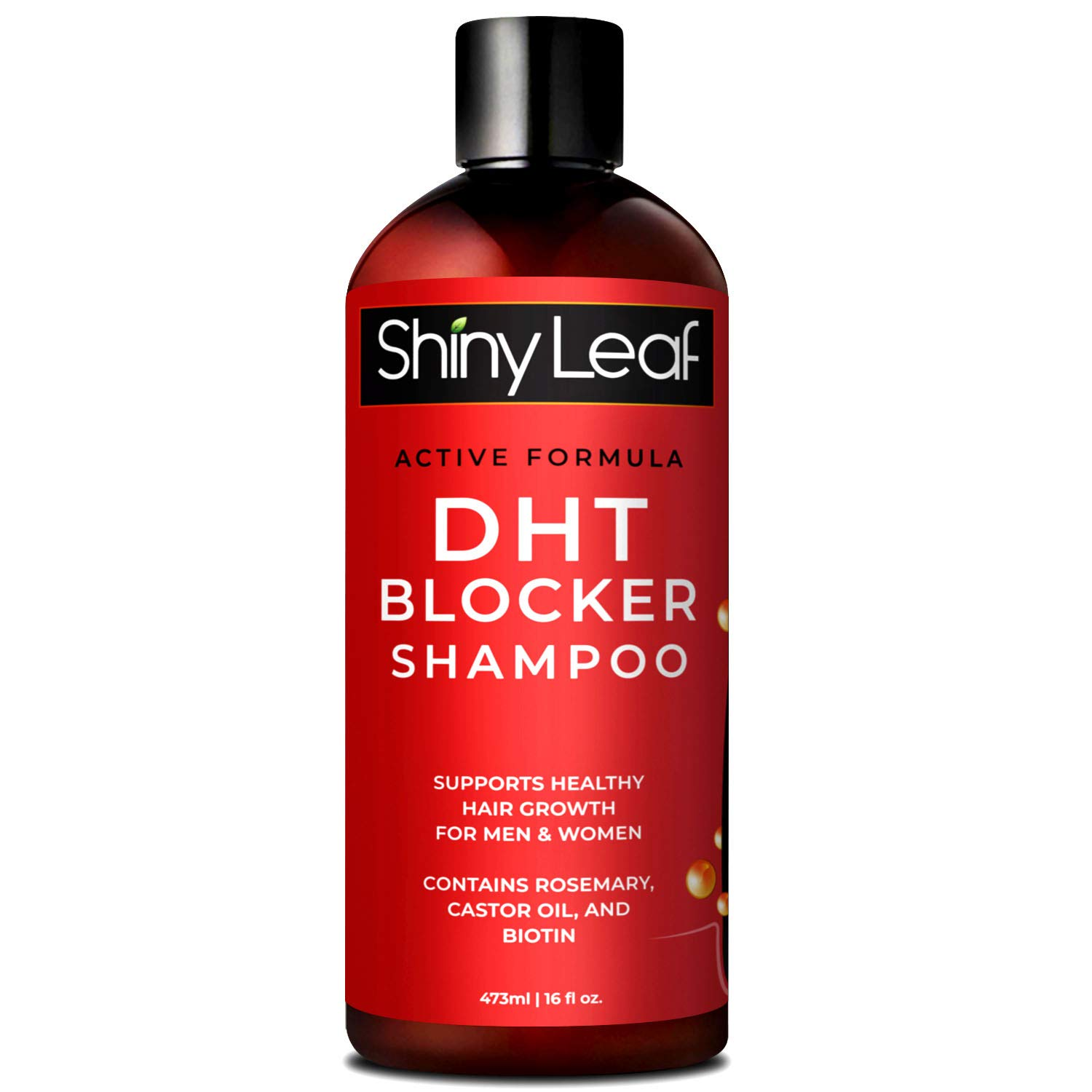DHT Blocker Shampoo for Hair Loss, for Men & Women, Active Formula, Natural DHT Blocking Shampoo for Hair Growth