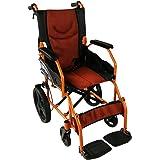 Gehwagen | Mit Fußstützen, Rückenlehnen, gepolsterten Armlehnen und Bremsen in der Griffe | Breite des Sitzes von 43 cm | Pirámide Modell | Mobiclinic