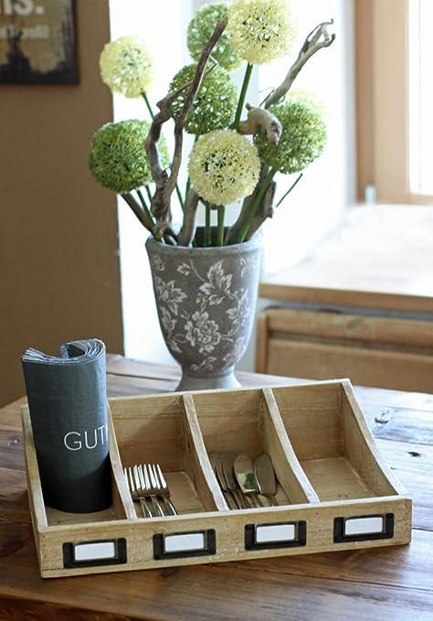 Organizador condecoro - rústica - bachmayer para cubiertos de madera de estilo rústico