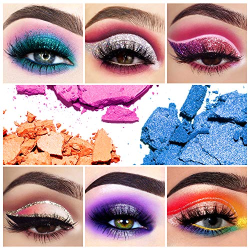 EYESEEK Matte Eyeshadow Palette Glitter 45 Shades Sparkle Eye shadow Palette Metallic Makeup Pallet High Pigmented Long Lasting Waterproof Makeup Eyeshadow Palette #Glitter