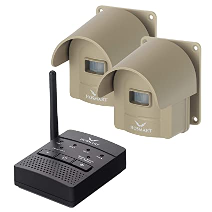 1/4 Mile Long Range Hosmart Rechargable Wireless Driveway Alarm System & Driveway Alert System Outdoor Weatherproof Security Motion Sensor & Detector