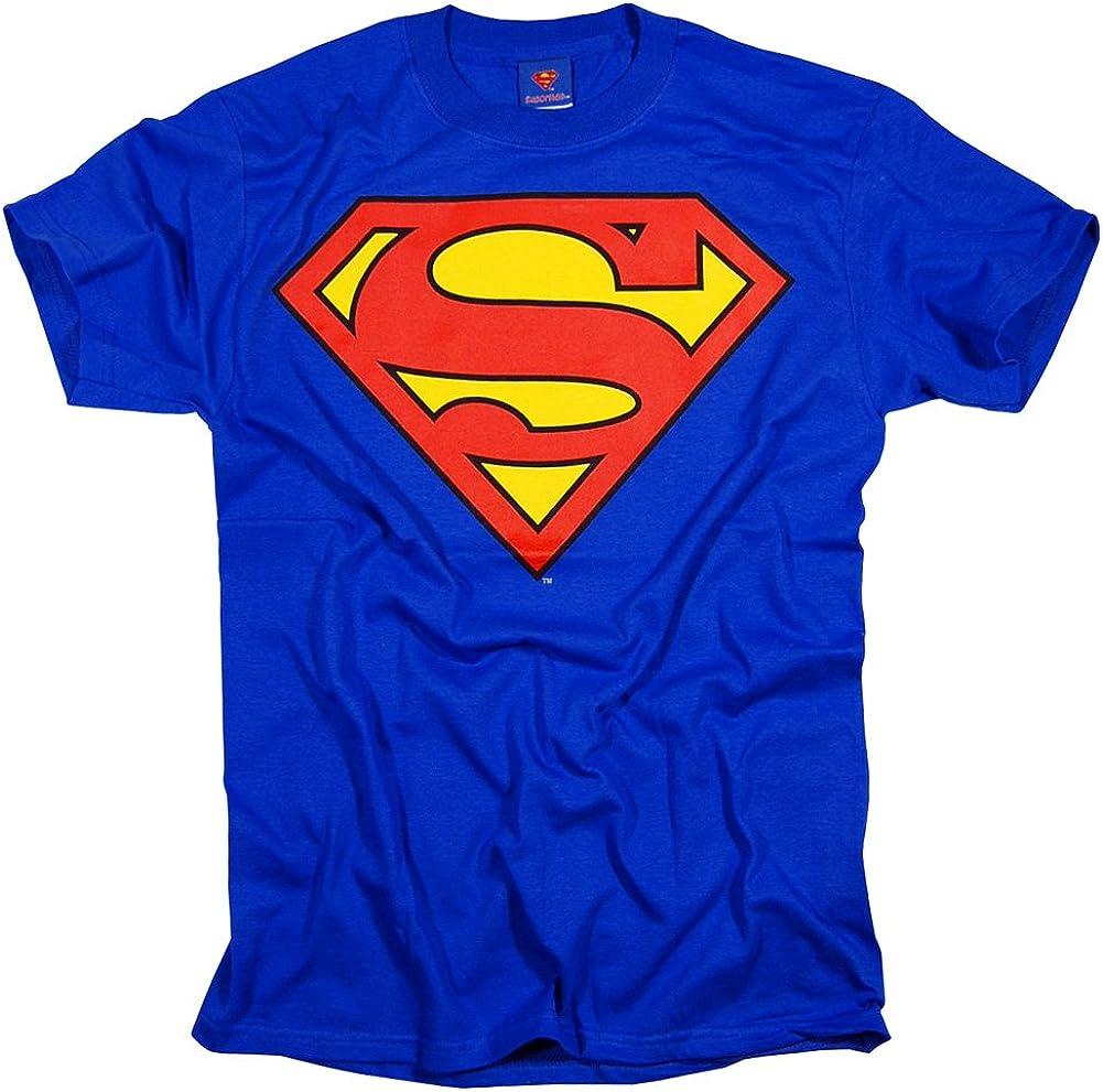 Superman Classic Shield Logo Adult T-Shirt
