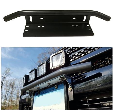 Universal Car Bull Bar Front Bumper License Plate Frame Mount Bracket Holder