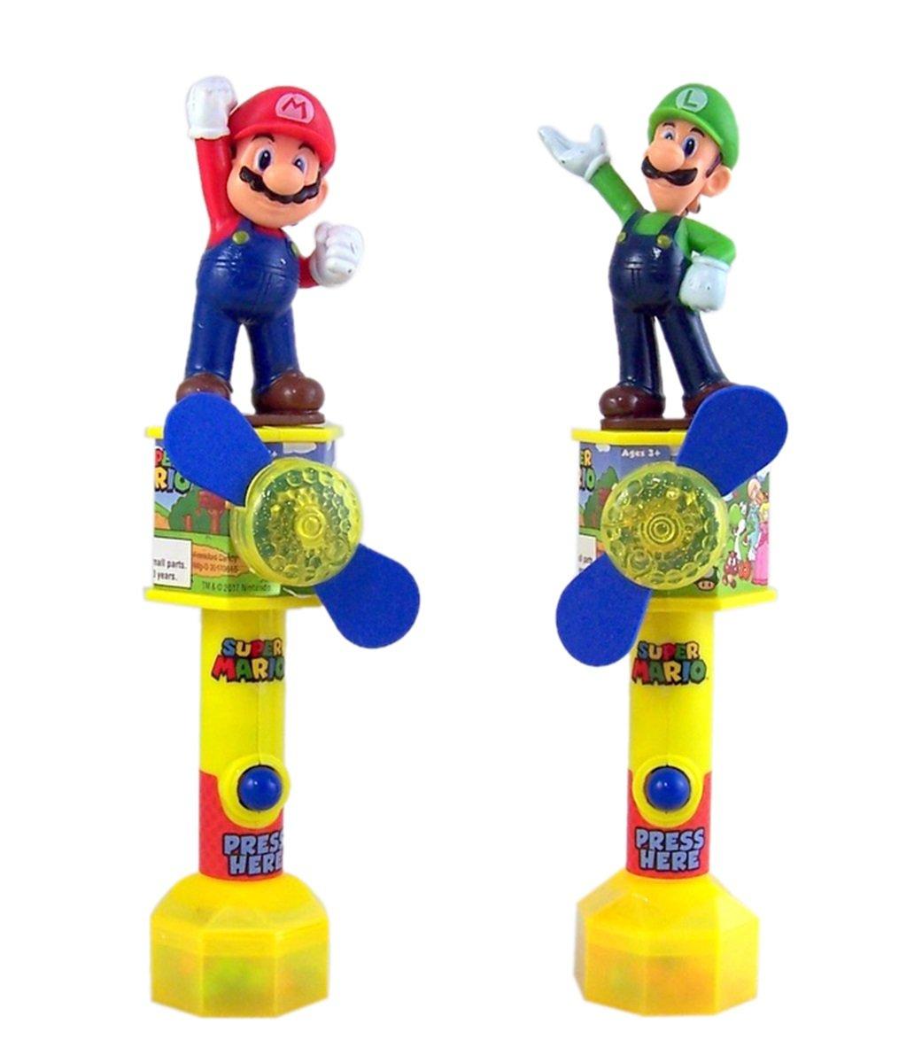Super Mario y Luigi - Juego de 2 ventiladores de juguete con ...