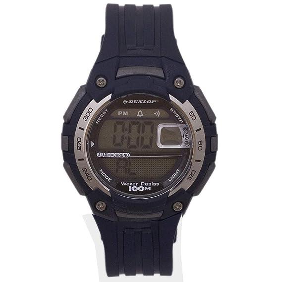Dunlop Reloj Digital para Hombre de Automático con Correa en Resina DUN-136-G04: Amazon.es: Relojes