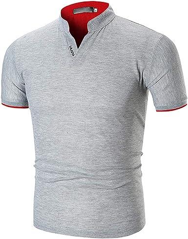 GNYD Camisetas De Hombres Sin Mangas Blancas Polo Verano,Cuello ...