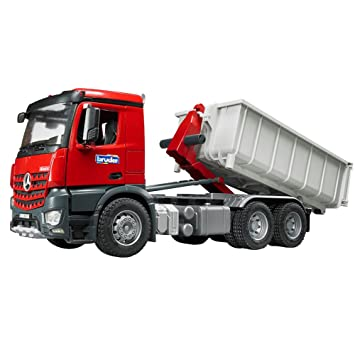 Bruder 03622 Camion Porte Container Mb Arocs Rouge Gris