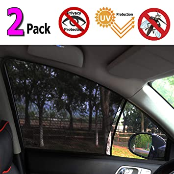 2 Pack Fit Most of Vehicle UV Privacy Protection SUV Car Mosquito Net for Kids Passengers Car Window Shade Universal Sun Shade for Car Window Mesh Net for Car Side Window for Baby