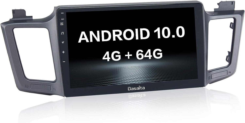 Dasaita 10.2 Pulgadas Android 10.0 Radio para Toyota RAV4 2012 a 2017 Estéreo para automóvil con navegación Bluetooth Carplay Android Auto DSP Radio 3 Puerto USB