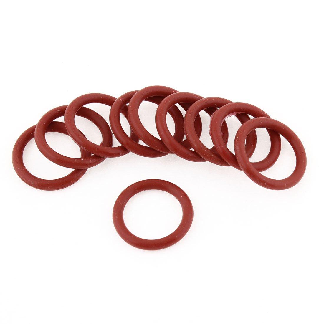 Lot de 10Rouge industriel flexible en caoutchouc O Ring Joint d'étanchéité 23mmx3mmx17mm Sourcingmap a13050600ux0056