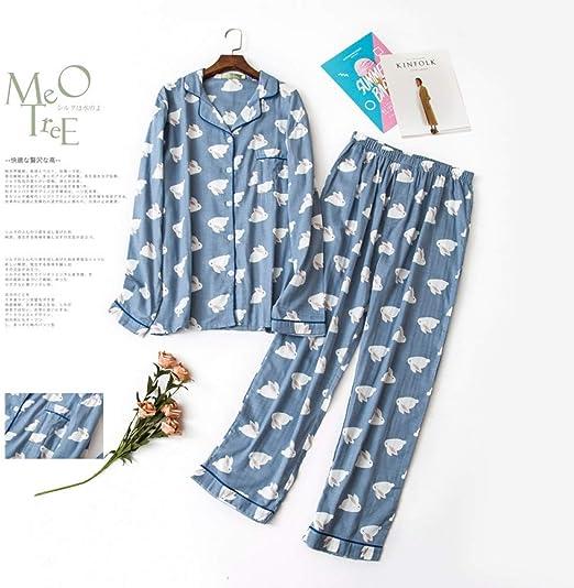 HIUGHJ Pijamas Pijamas de algodón 100% algodón con Conejo Lindo ...