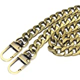 "M-W 23.6"" Iron Flat Chain Strap Handbag Chains Accessories Purse Straps Shoulder Replacement Straps, with Metal Buckles (Bronze)"