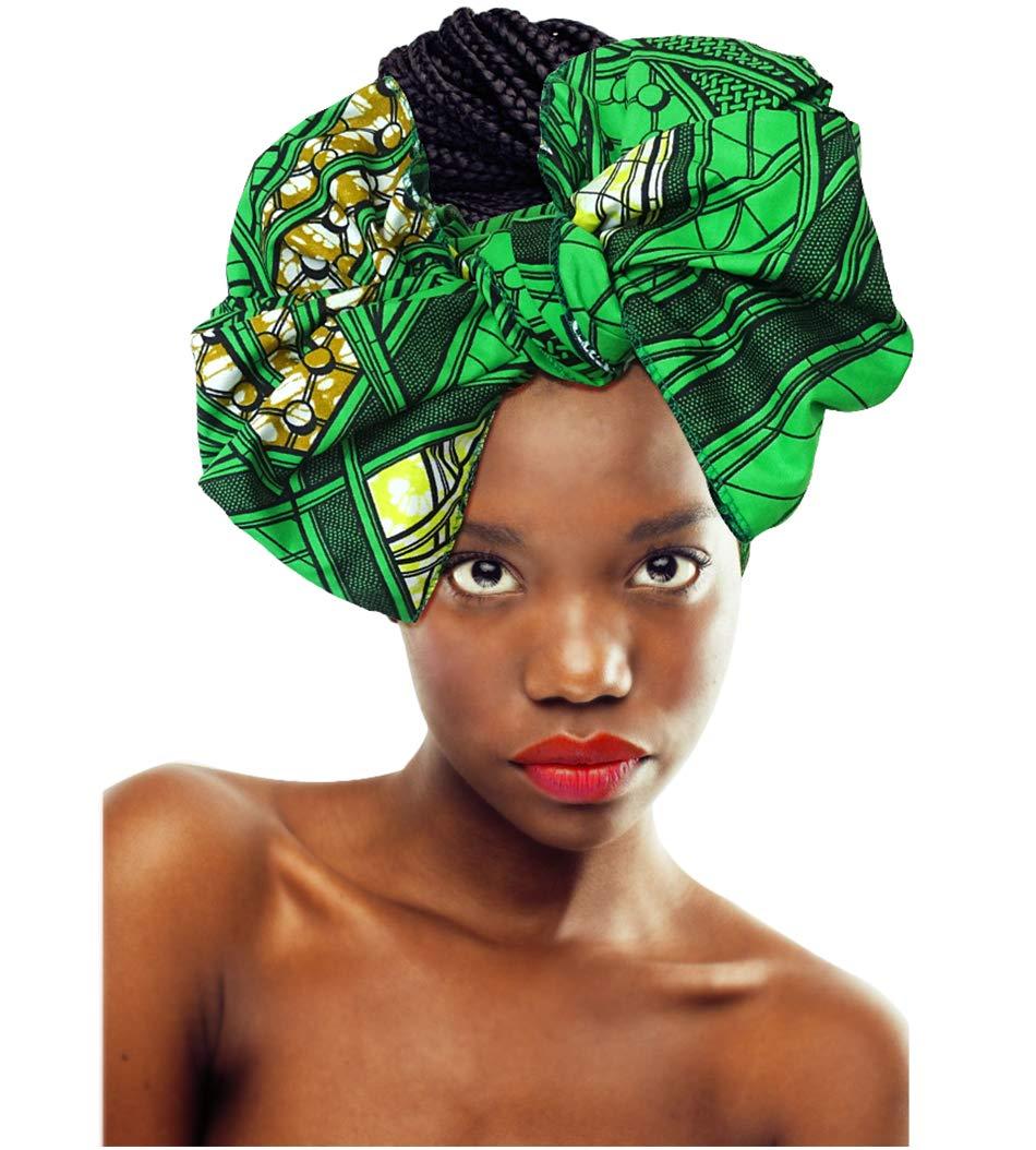 L'VOW Women' Soft Stretch Headband Long Head Wrap Scarf Turban Tie (X-007) by L'VOW